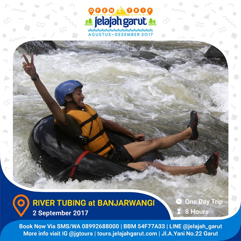 Open Trip Rivertubing Banjarwangi 2 September 2017