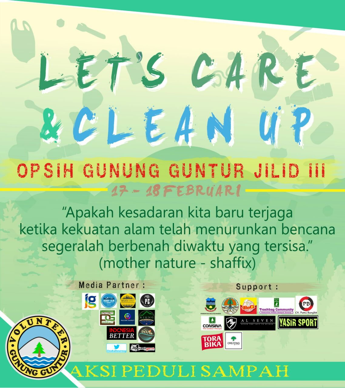 Opsih Gunung Guntur Jilid III: Let's Care and Clean Up