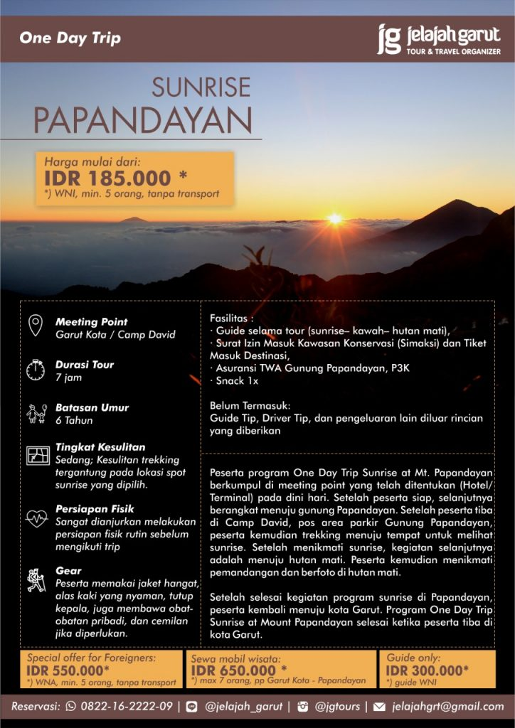 Paket Sunrise Papandayan